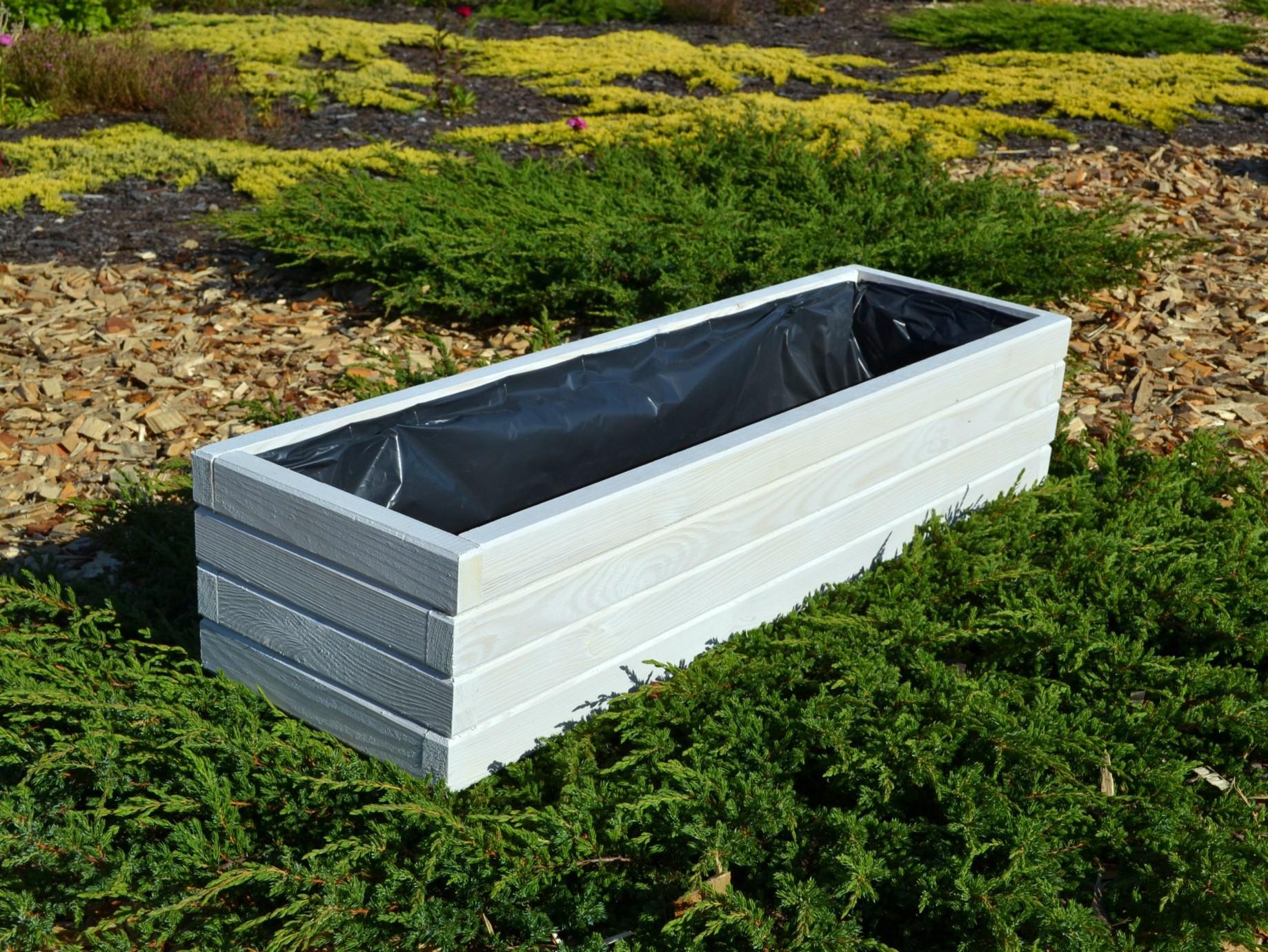 holzpflanzkasten pflanzk bel garten terrasse l nge 60 80 100cm d2 wei grau ebay. Black Bedroom Furniture Sets. Home Design Ideas
