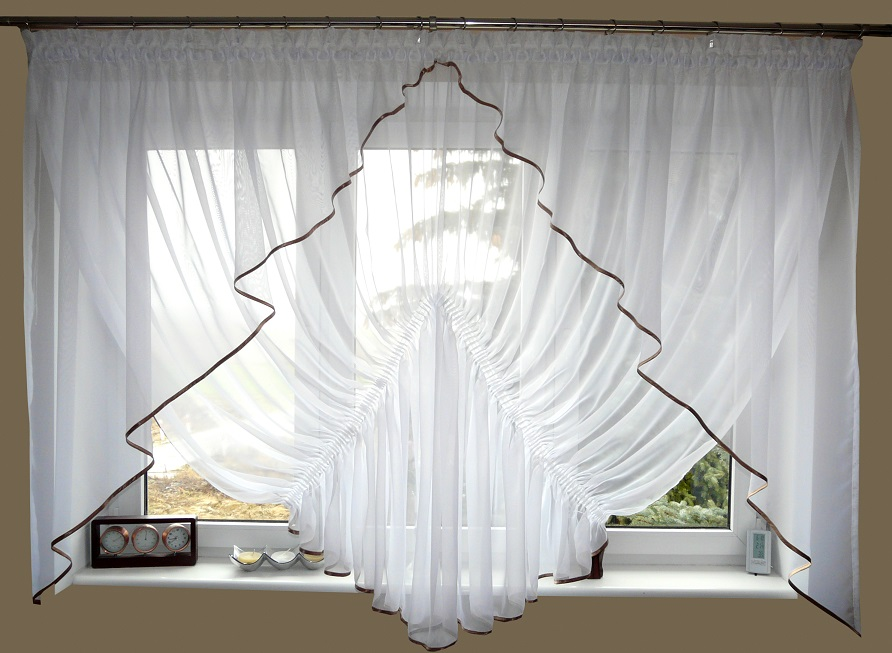moderne fertiggardine voile sch ne gardine gd20 b top. Black Bedroom Furniture Sets. Home Design Ideas