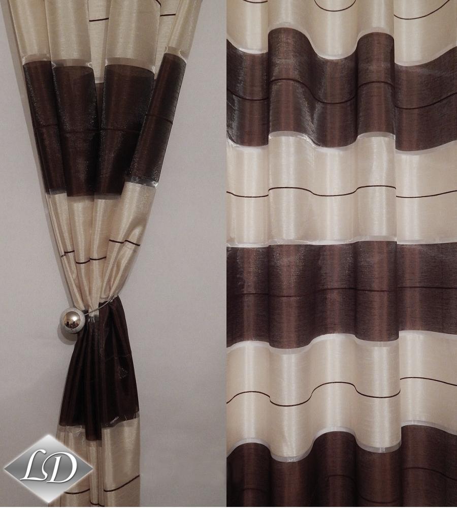 senvorhang dg v semi transparent 2 rideaux set pour une fen tre belle art deco ebay. Black Bedroom Furniture Sets. Home Design Ideas