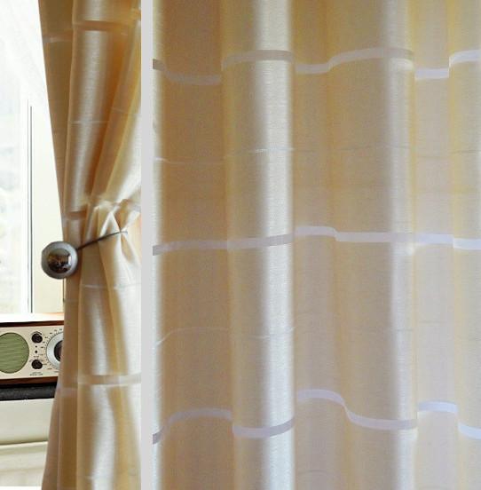 senvorhang gd v halbtransparent 2 vorh nge set f r ein fenster sch n art deco ebay. Black Bedroom Furniture Sets. Home Design Ideas