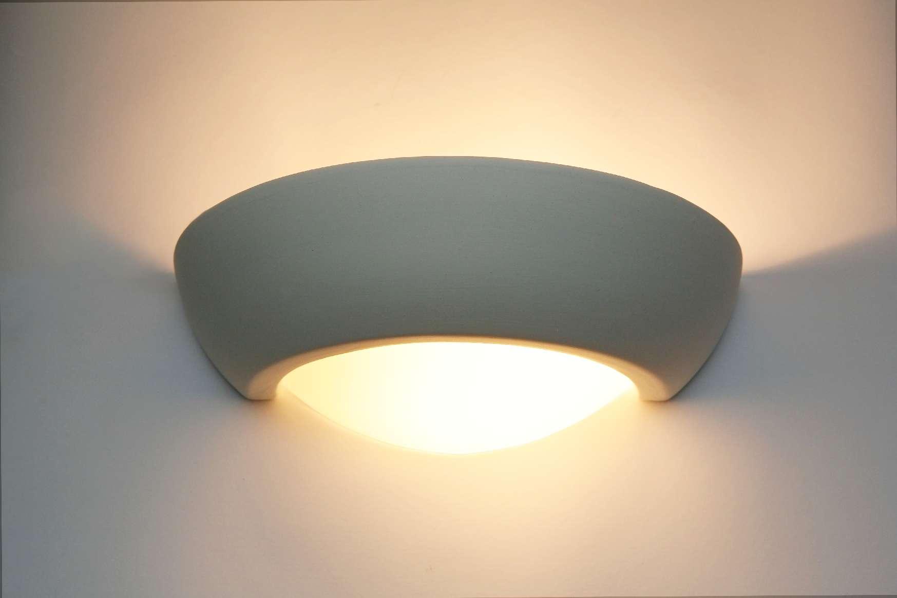 wandlampe keramik wandleuchte gips lampe leuchte steffen. Black Bedroom Furniture Sets. Home Design Ideas