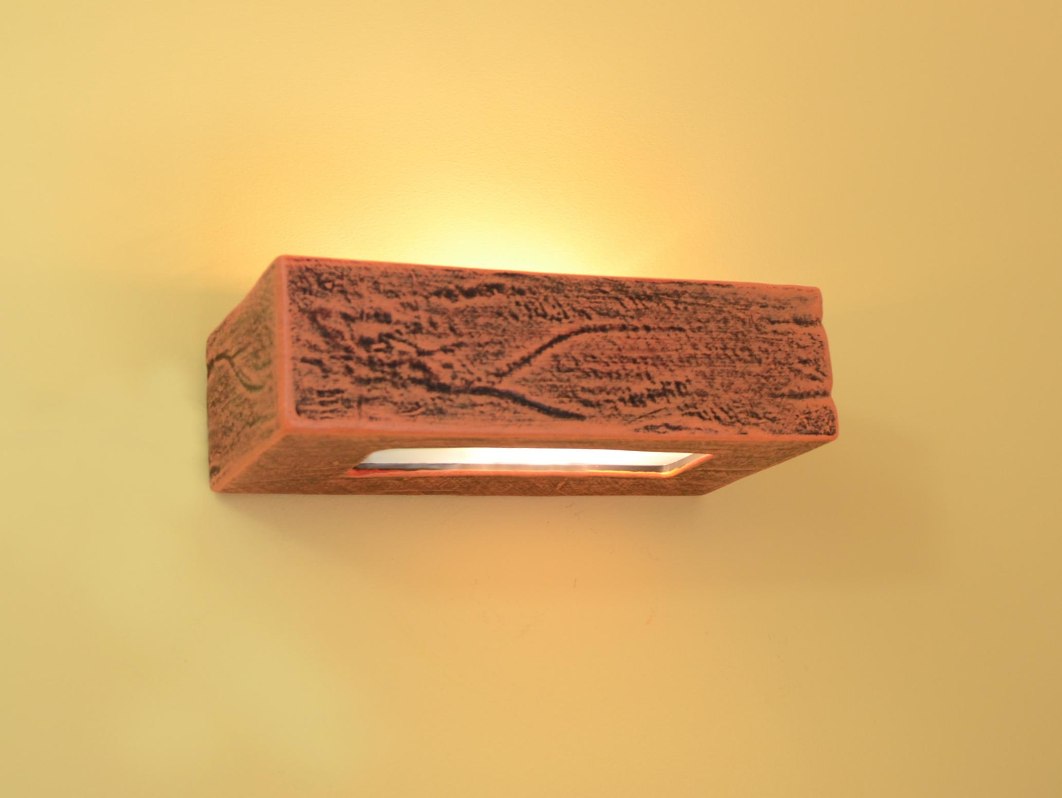 Wall Lamp Light Ceramic Rectangular Orange LEDs Suitable Top Design Best Quality