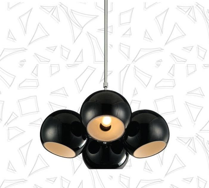 h ngelampe milano 4 flammig schwarz h ngeleuchte pendellampe edel designer lampe ebay. Black Bedroom Furniture Sets. Home Design Ideas
