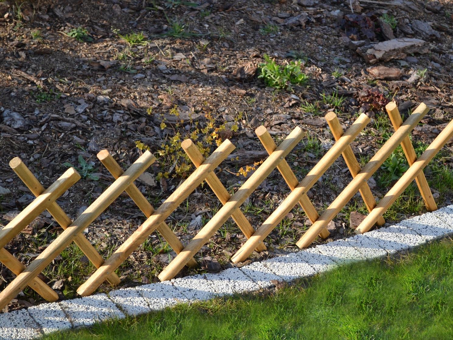 Steck Zaun aus Holz Garten Zaun Beetumrandung 100 cm Einfassung