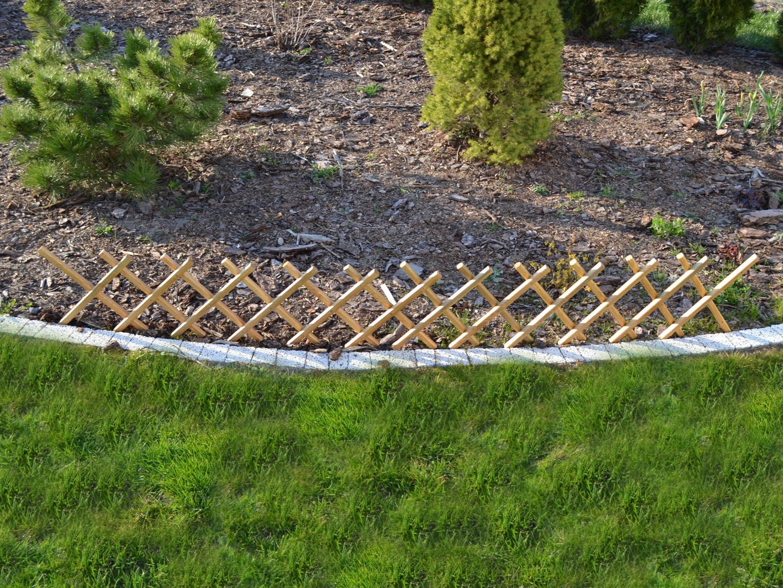 Steckzaun aus Holz Garten Zaun Beetumrandung 100x30 cm Beet